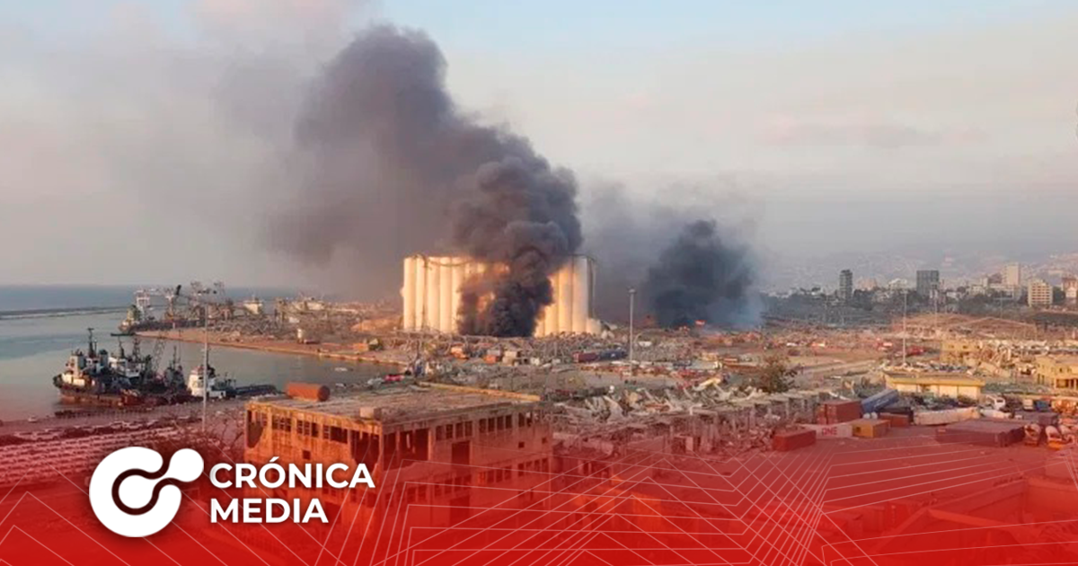 Fuerte explosión sacudió a Beirut
