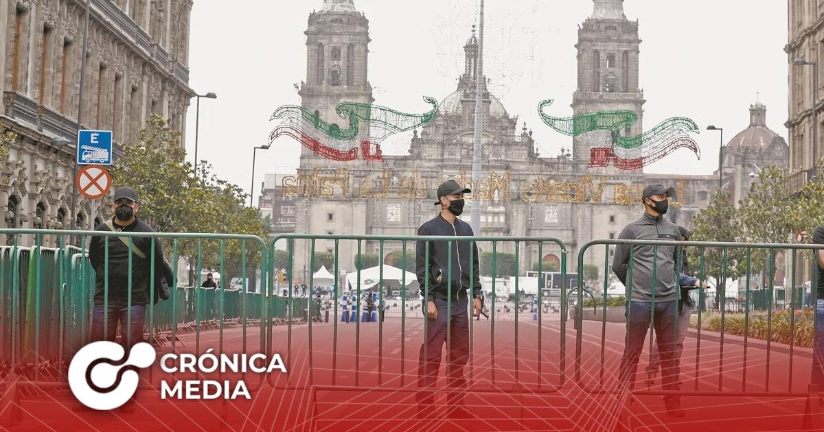 Cierran vías adyacentes al Zócalo en CDMX por Grito de Independencia