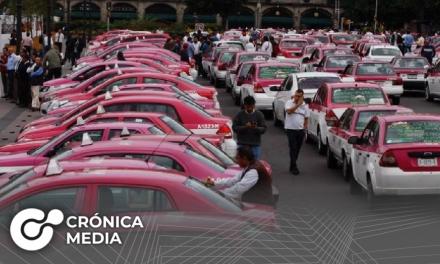 Masiva protesta de taxistas en CDMX