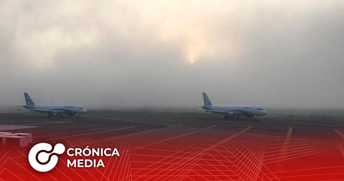 AICM suspende vuelos la mañana de hoy por niebla