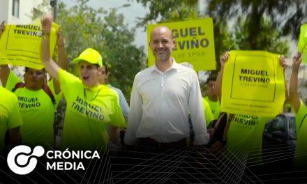 NL: Miguel Treviño formaliza su candidatura para reelección de SP
