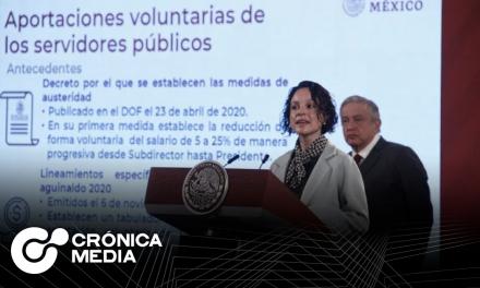 Recaudan 108.6 mdp por reducción de sueldos de altos funcionarios públicos