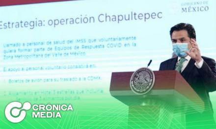 """""""Operación Chapultepec"""" en lucha contra Covid-19 en CDMX"""