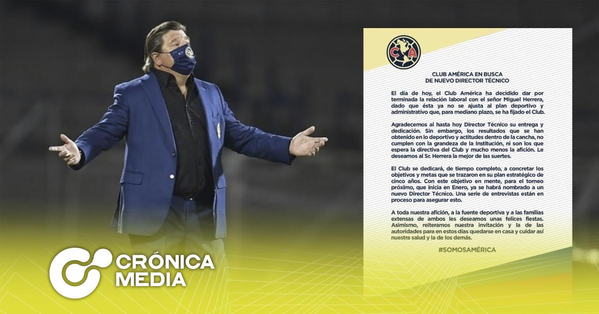 """Miguel """"El Piojo"""" Herrera es despedido del Club América"""