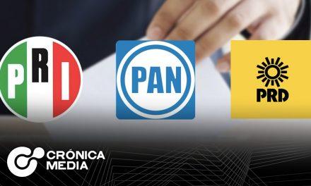 PRI, PAN y PRD forman alianza por distritos para diputados