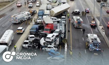Carambola de 100 vehículos en Texas deja 6 muertos
