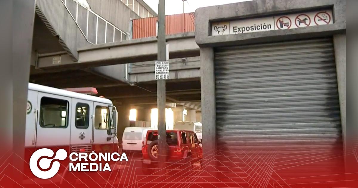 Reportan incendio en la estación del Metro Exposición