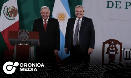Presidente de Argentina en la mañanera con AMLO