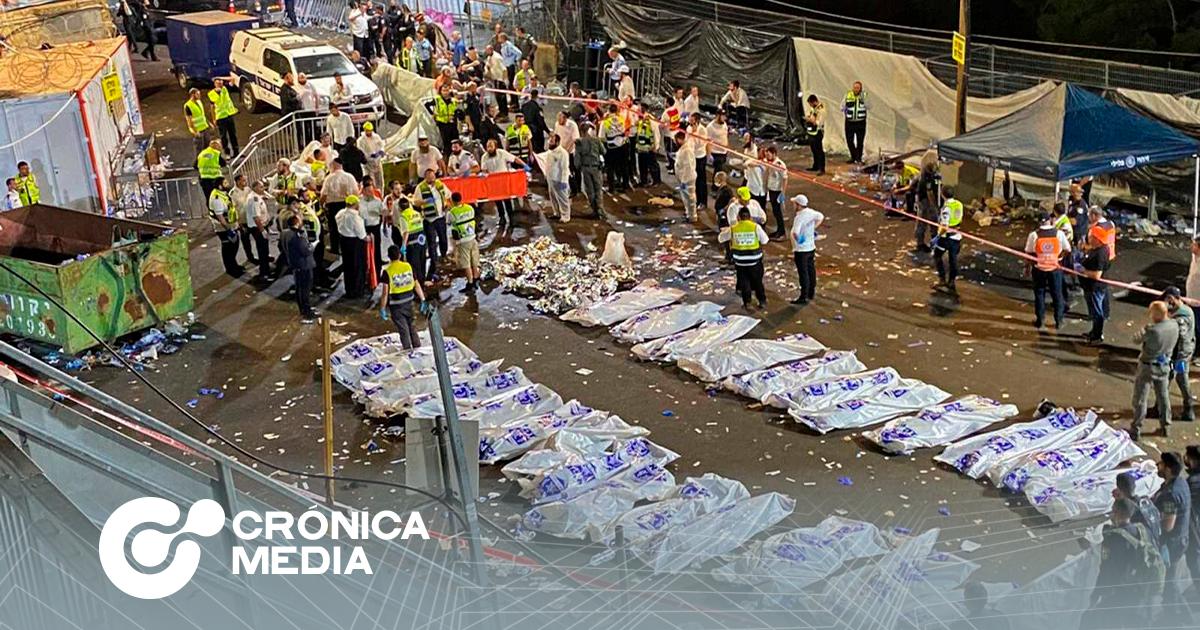 Al menos 44 muertos durante festival religioso en Israel