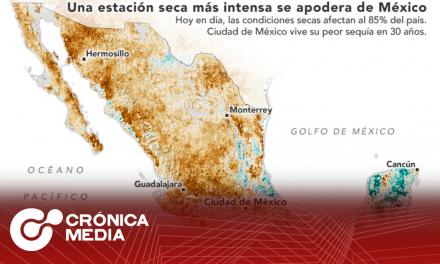 La NASA alertó a México sobre la grave sequía que enfrenta
