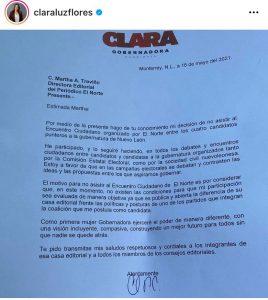 Clara Luz carta