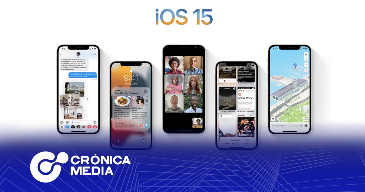 Nueva actualización de iOS 15