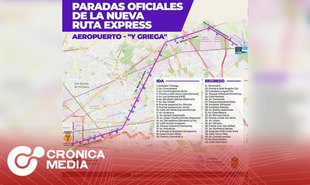 Nueva ruta al aeropuerto internacional de Monterrey