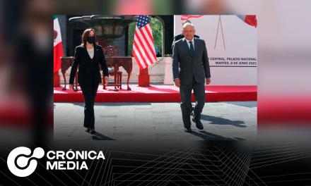 La vicepresidenta de EUA Kamala Harris se reune con AMLO