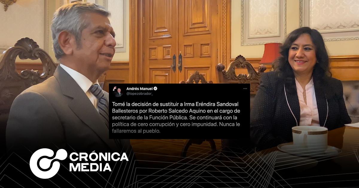 Andrés Manuel López Obrador anunció la salida de Irma Eréndira Sandoval de SFP