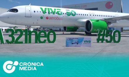 La aerolínea Viva Aerobus estrena su avión número 50
